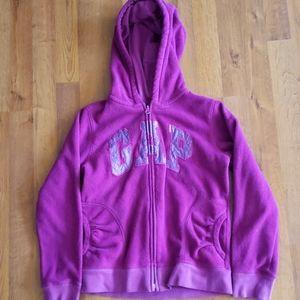 Gap kids fleece zip up hoodie